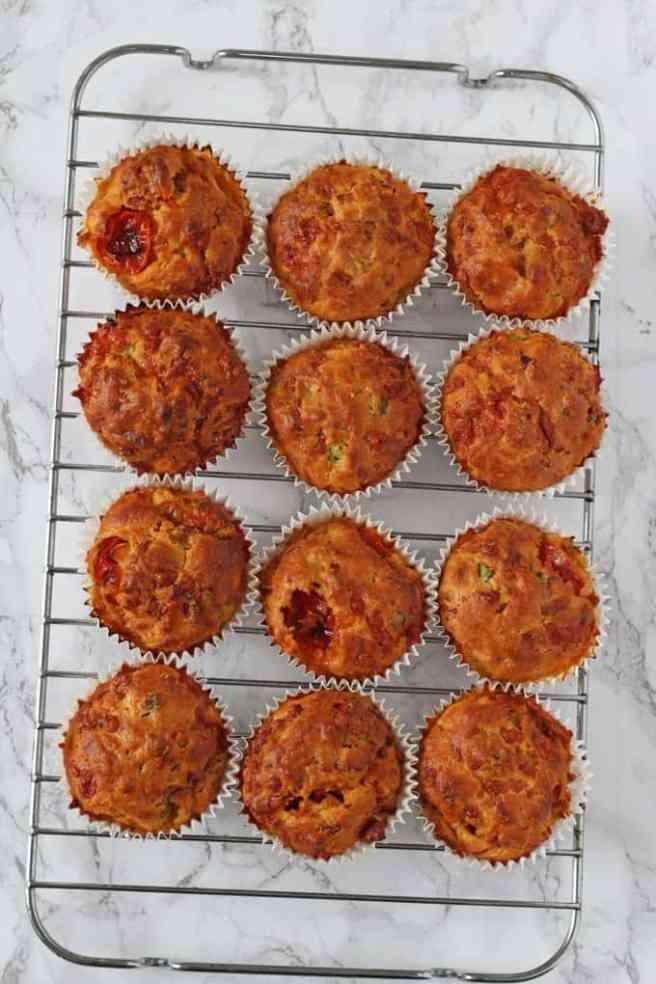 Pizza Lunchbox Savoury Muffins