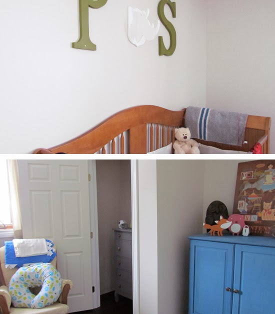 Colorful nursery for a boy.