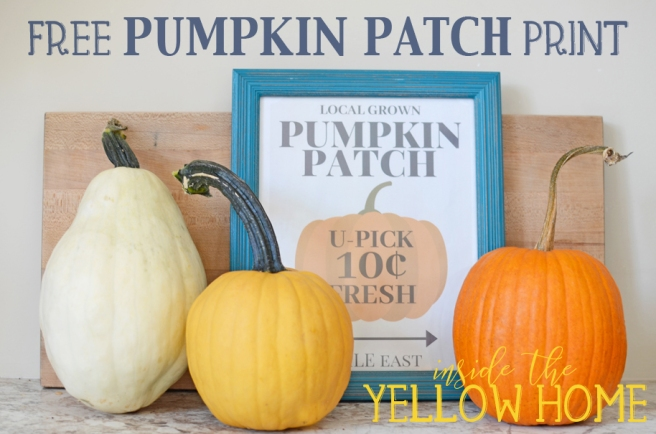 Free Pumpkin Patch Print Download