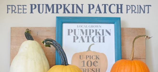 Free Pumpkin Patch Print