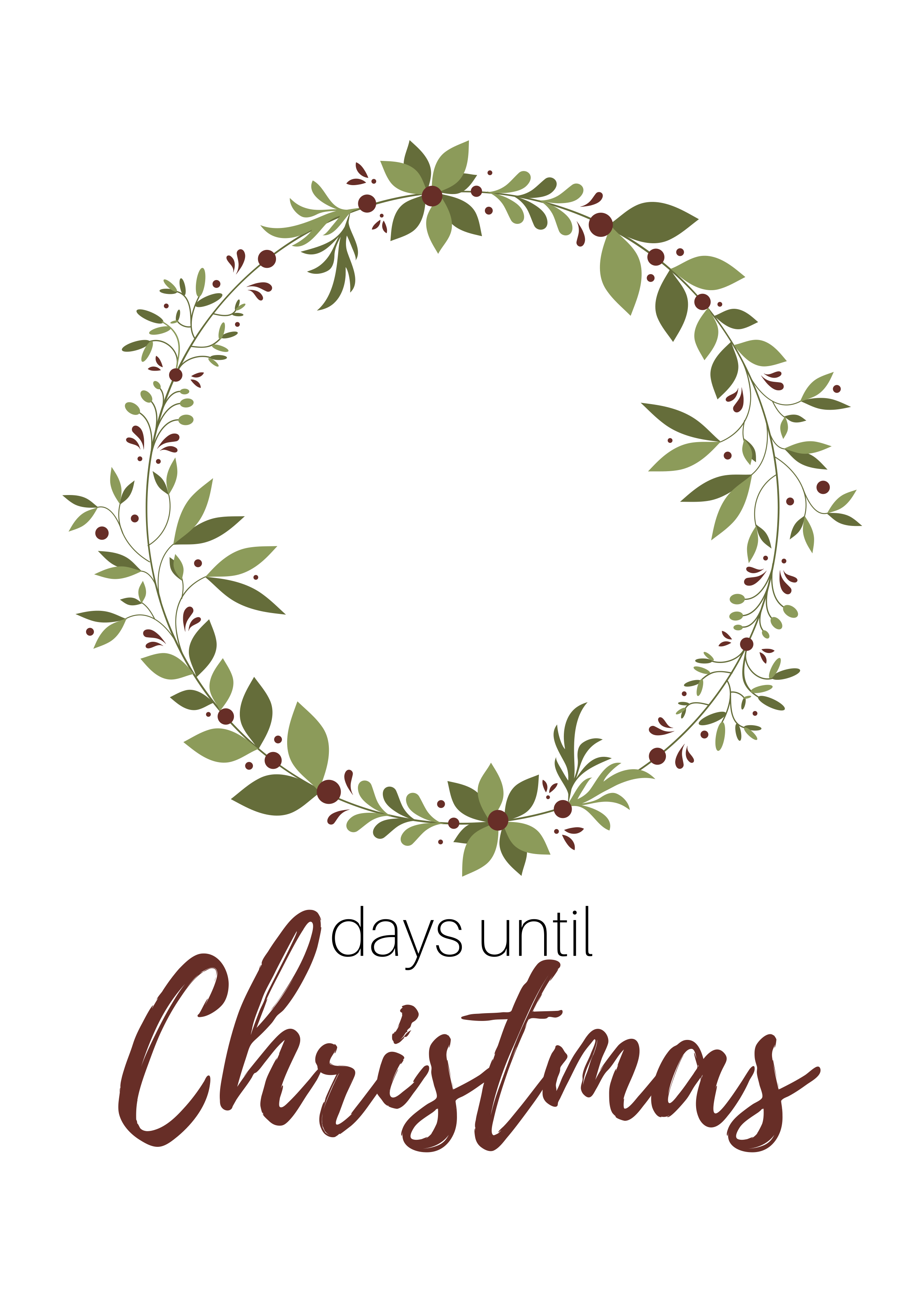image relating to Christmas Countdown Printable identify Totally free Xmas Countdown Printable An Simple Do it yourself Decor
