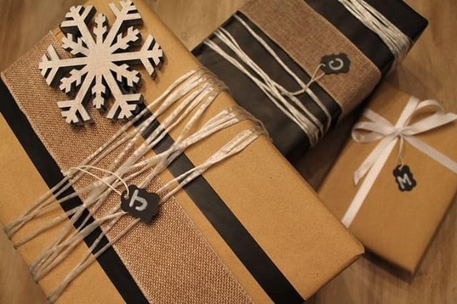 Black & White Wrapping from West Magnolia Charm